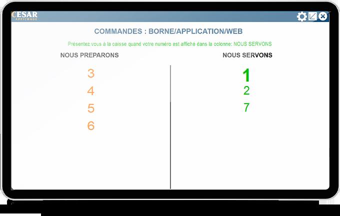 optimisation de production ecran affichage client
